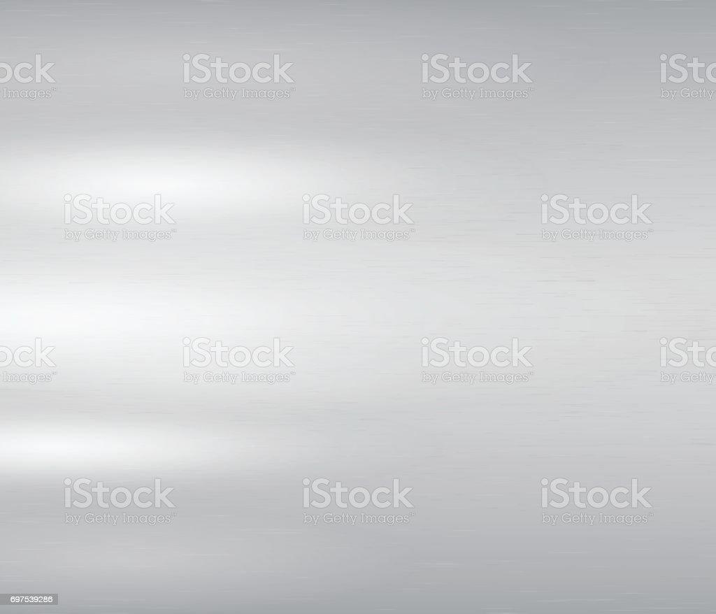 Vektor-Illustration grau Metall, Edelstahl-Textur-Hintergrund – Vektorgrafik