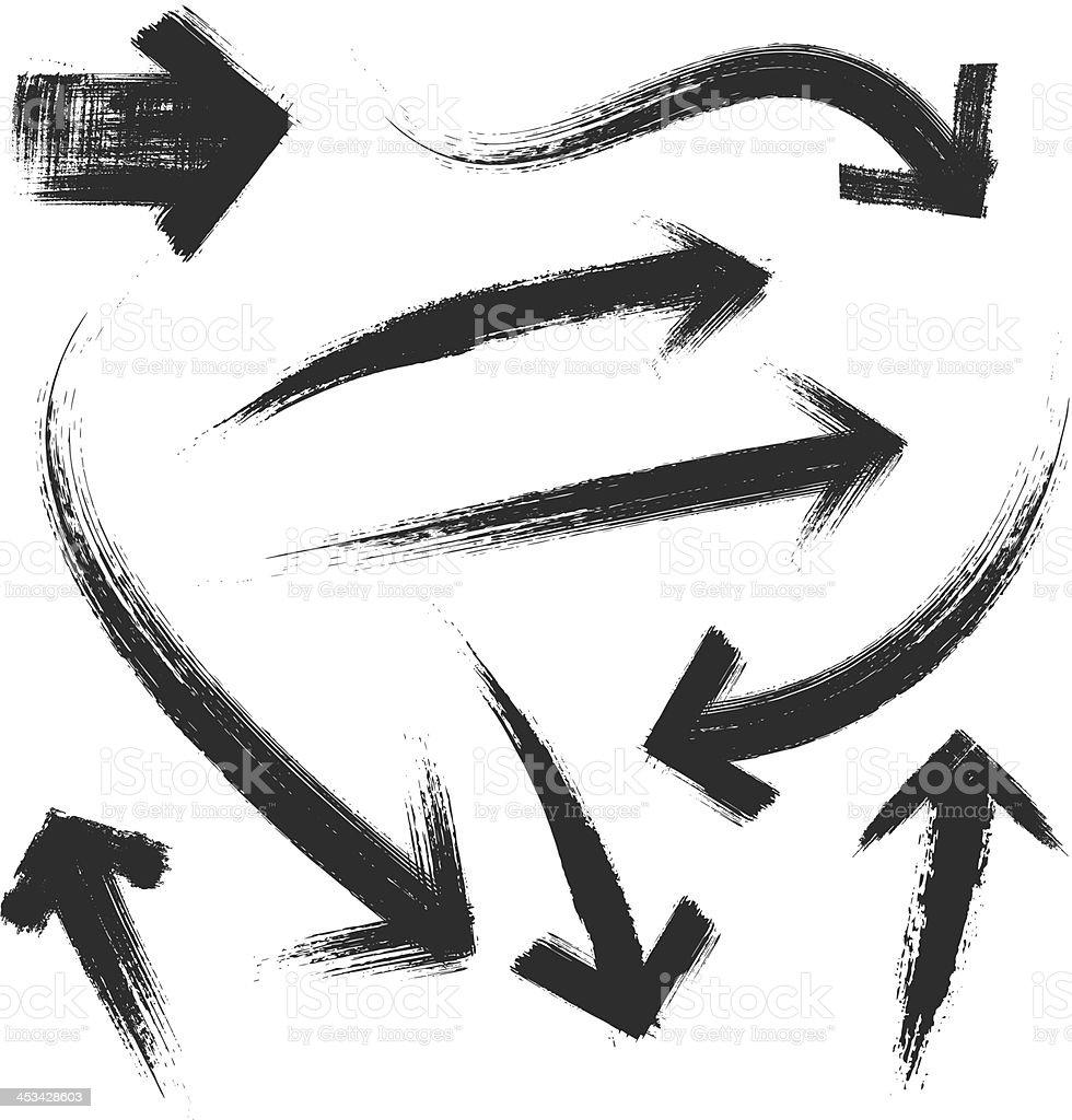 illustration vectorielle de flèches de grunge - Illustration vectorielle