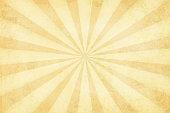 Vector illustration of grunge light brown sunburst. Suitable for background, greeting card, wallpaper.