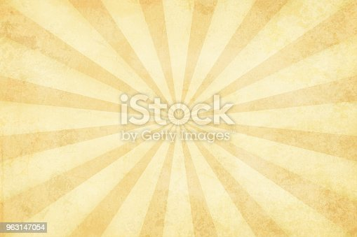 Vector illustration of grunge light brown sunburst. Suitable for background, greeting card, wallpaper.