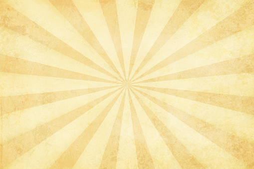 Vector illustration of grunge light brown sunburst