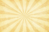 Vector illustration of grunge light brown sunburst