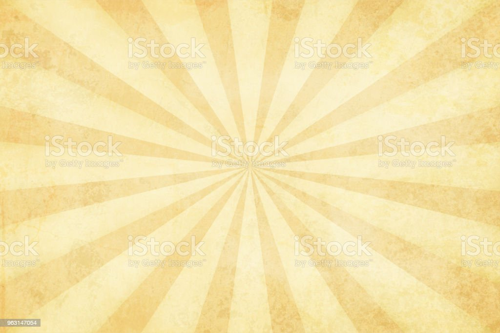 Vector illustration of grunge light brown sunburst vector art illustration