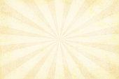 Vector illustration of grunge very light brown sunburst. Suitable for background, greeting card, wallpaper.