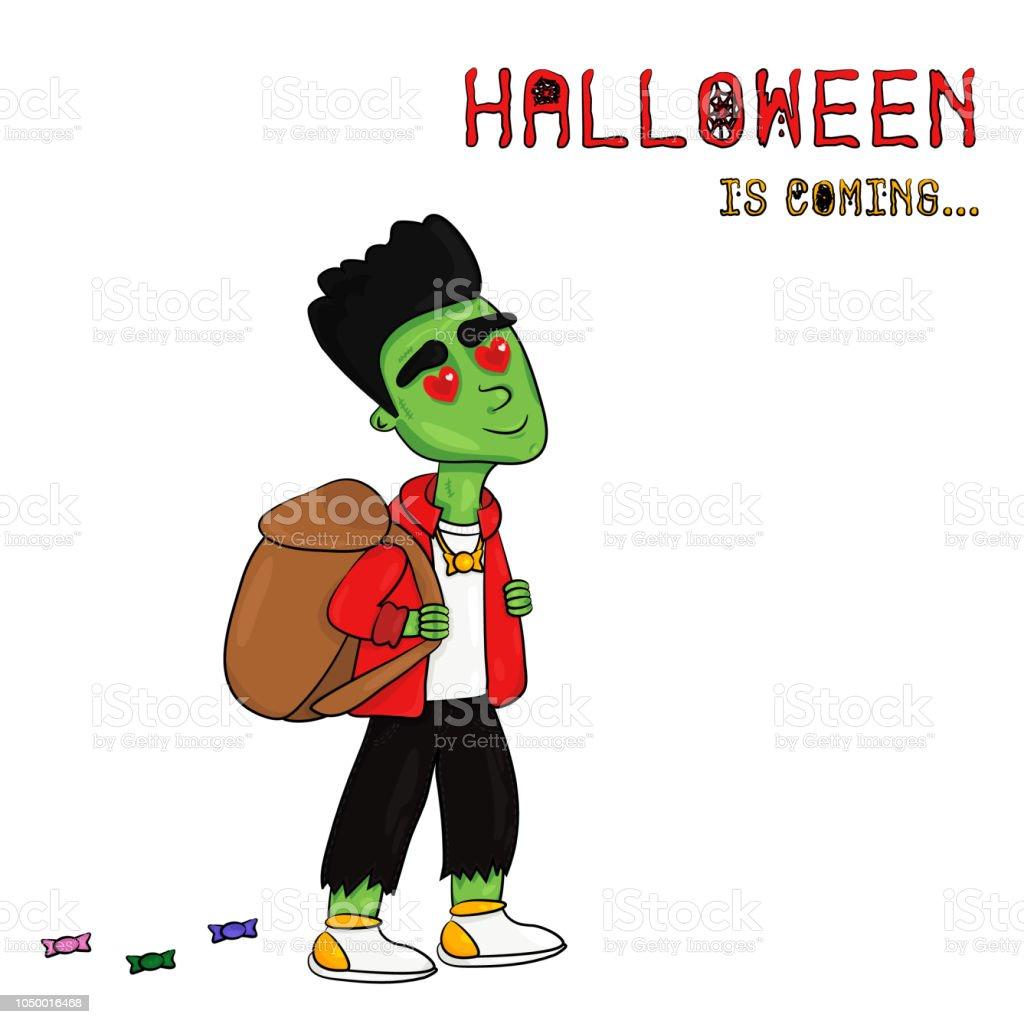 Ilustración de vector de Halloween está llegando - ilustración de arte vectorial