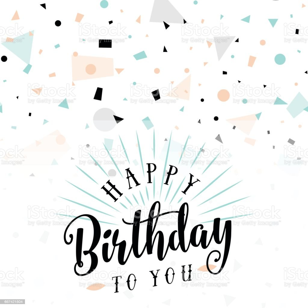 Vector illustration of Happy Birthday greeting card vector art illustration