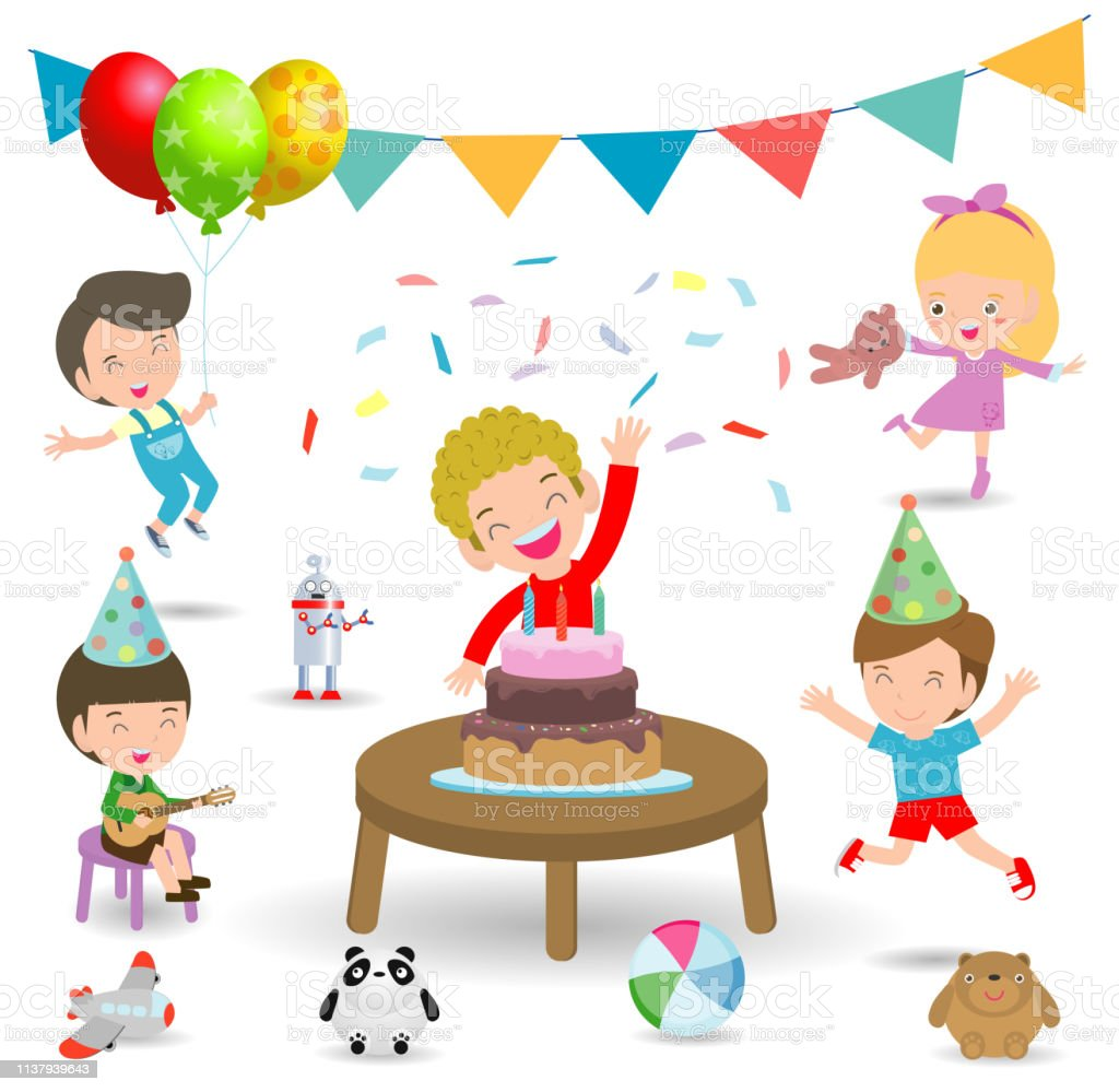 Vector Illustration Of Happy Birthday Party Kids Party Birthday Celebration Birthday Party For Children Stock Illustration Download Image Now Istock