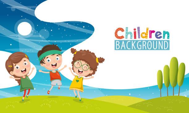 ilustrações, clipart, desenhos animados e ícones de ilustração em vetor de crianças felizes - dia das crianças