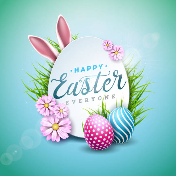 163 504 Happy Easter Illustrations Clip Art Istock