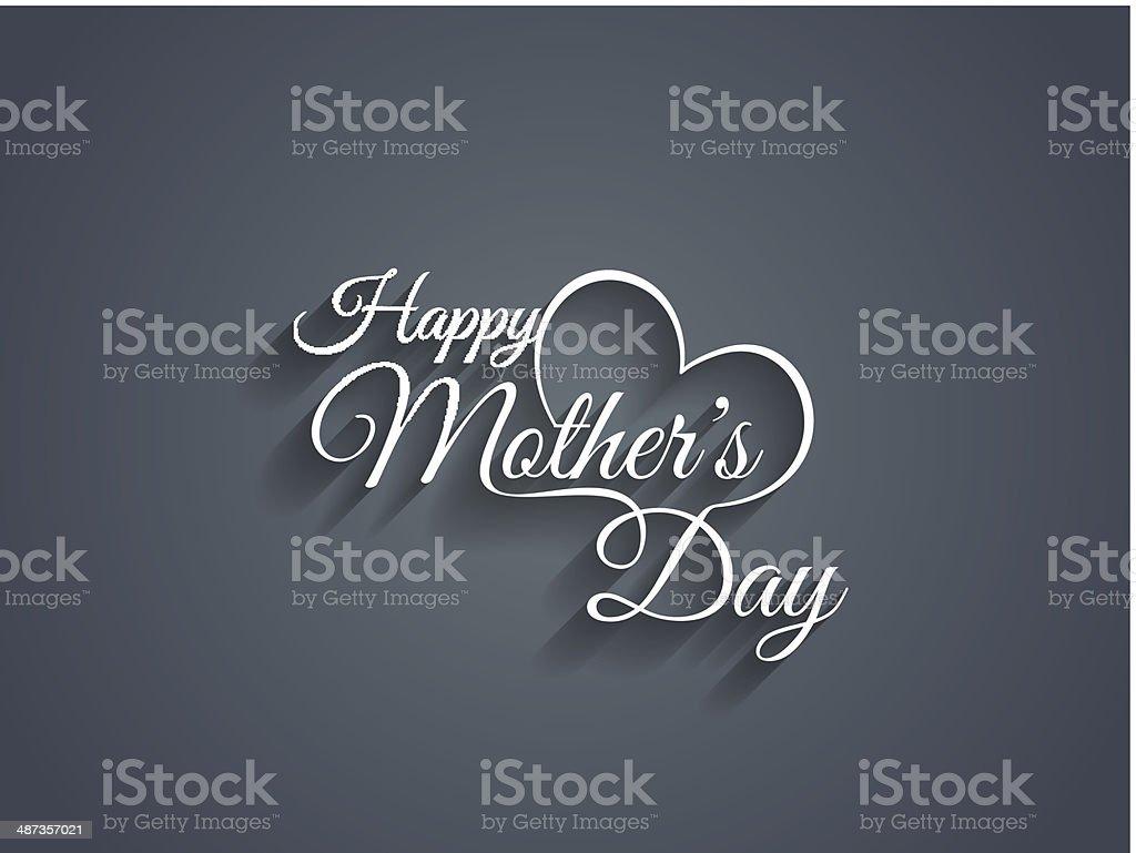 Vector illustration of Happy Mother's Day script vector art illustration
