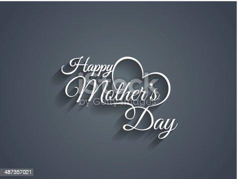 Vector illustration of happy mothers day script stock vector art