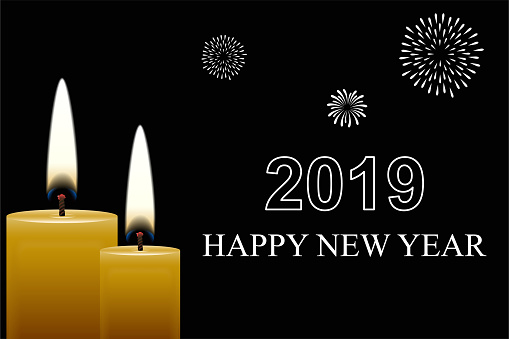 Vector illustration of happy new year