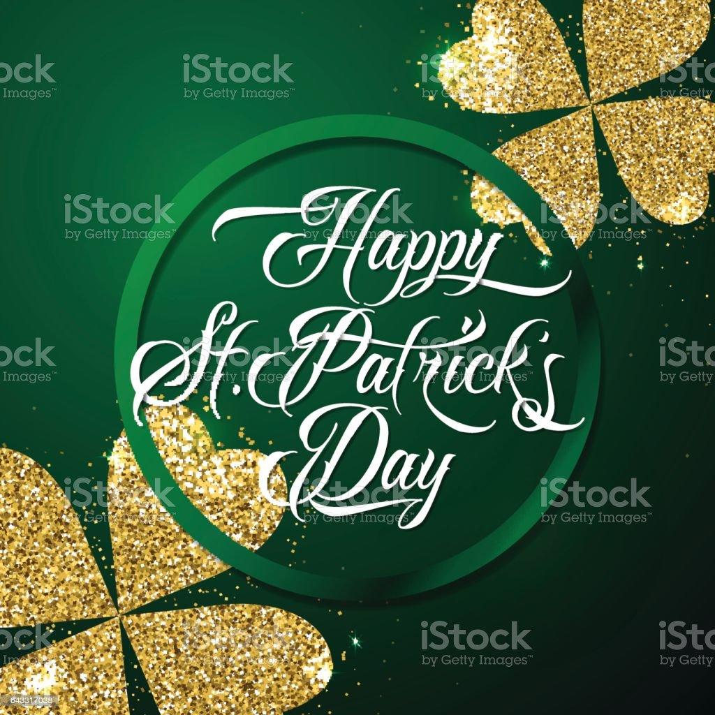 Vektorillustration Glücklich St Patricks Tag Gruß Plakat Vektor ...