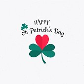 Vector illustration of Happy Saint Patrick's Day. Lettering typography icon. Logotype. - Vector