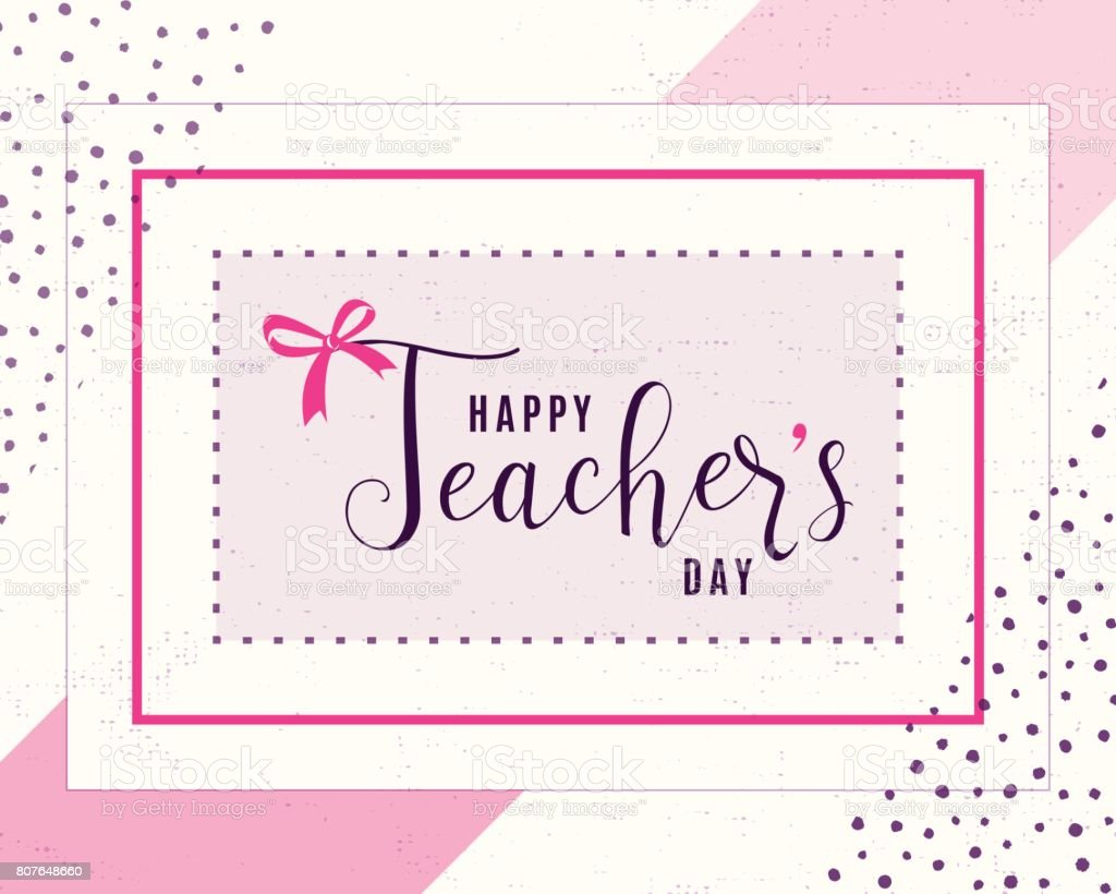 Vector Illustration Of Happy Teachers Day Greeting Design ...