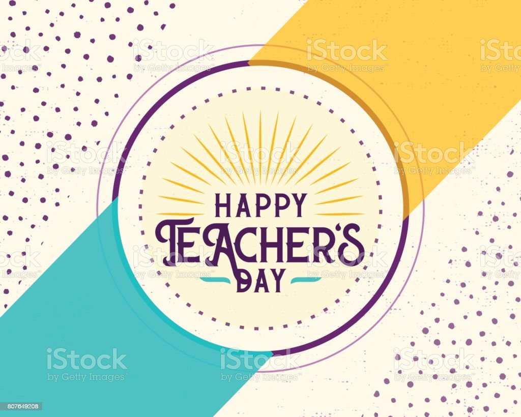 Vector illustration of happy teachers day greeting design for print vector illustration of happy teachers day greeting design for print card royalty free m4hsunfo