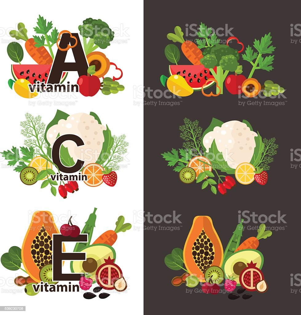 Vector illustration of healthy food royalty-free vector illustration of healthy food stock vector art & more images of asparagus