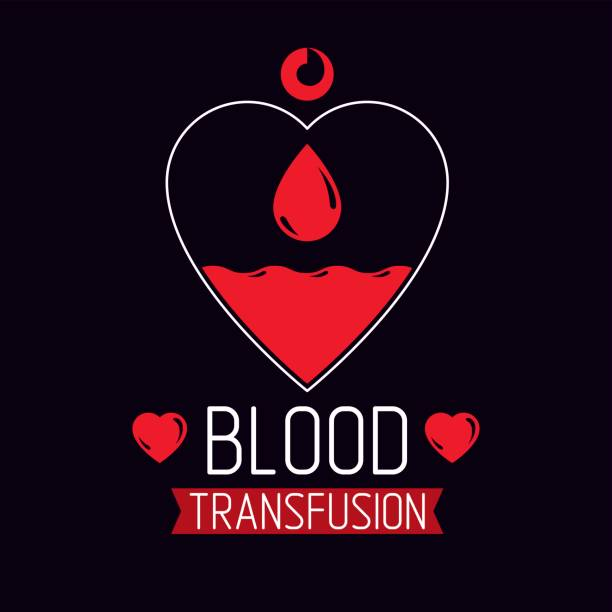 Vector illustration of heart shape. Blood transfusion concept, charity and volunteer conceptual  for use in medical care advertisement. vector art illustration