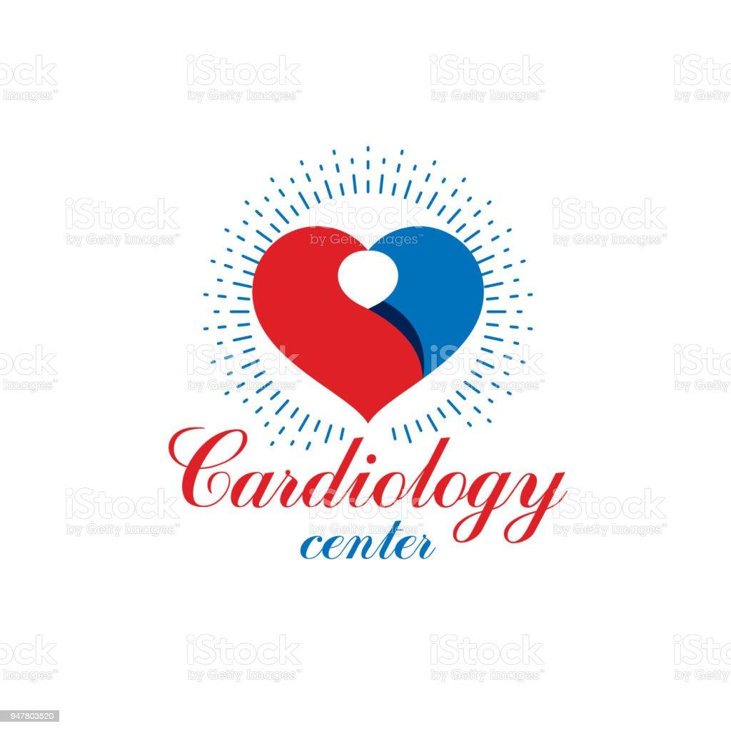 Vector Illustration Of Heart Shape Cardiovascular System Diseases