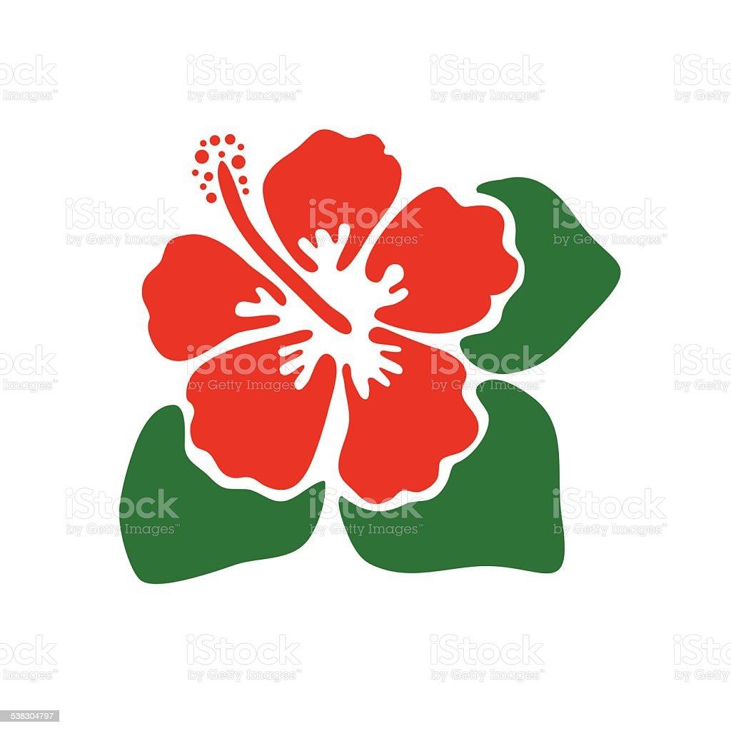 Vector Illustration Of Hibiscus Flower Stock Vector Art More