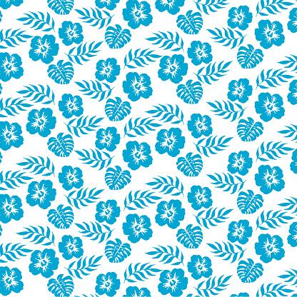 Vector illustration of Hibiscus pattern