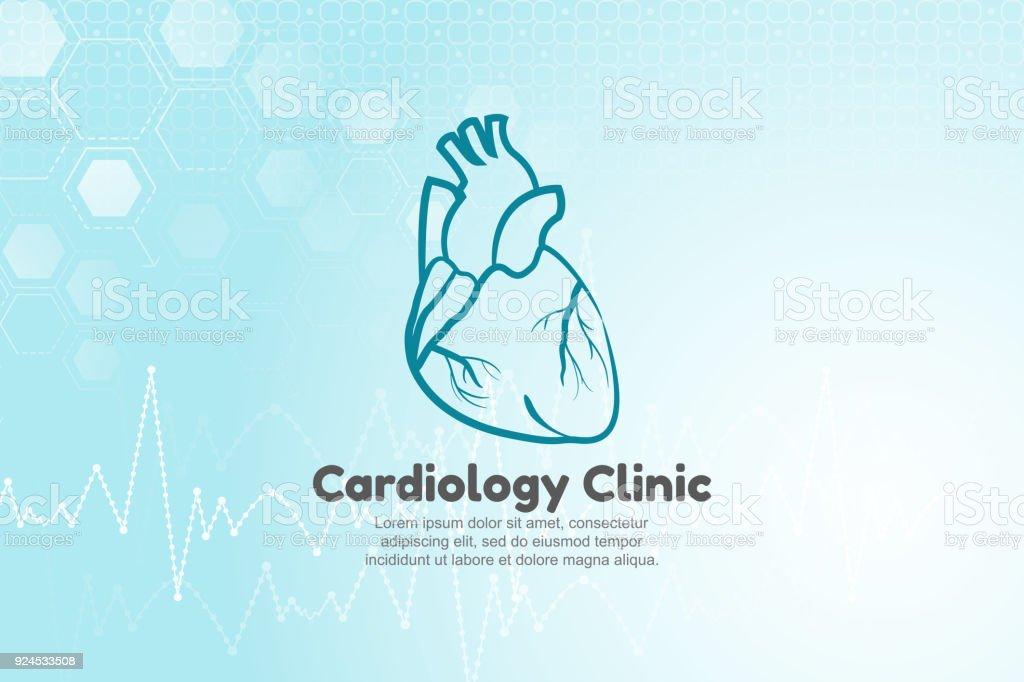 Vektorillustration Des Menschlichen Herzens Für Kardiologie Klinik ...