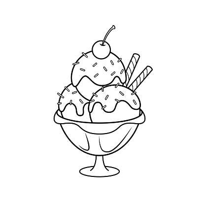 Vector Illustration Of Ice Cream Isolated On White