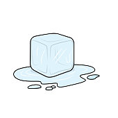 Vector illustration of ice cube isolated on white background for kids coloring activity worksheet/workbook.