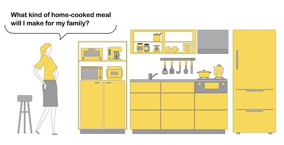 Vector illustration of icon set of kitchen utensils