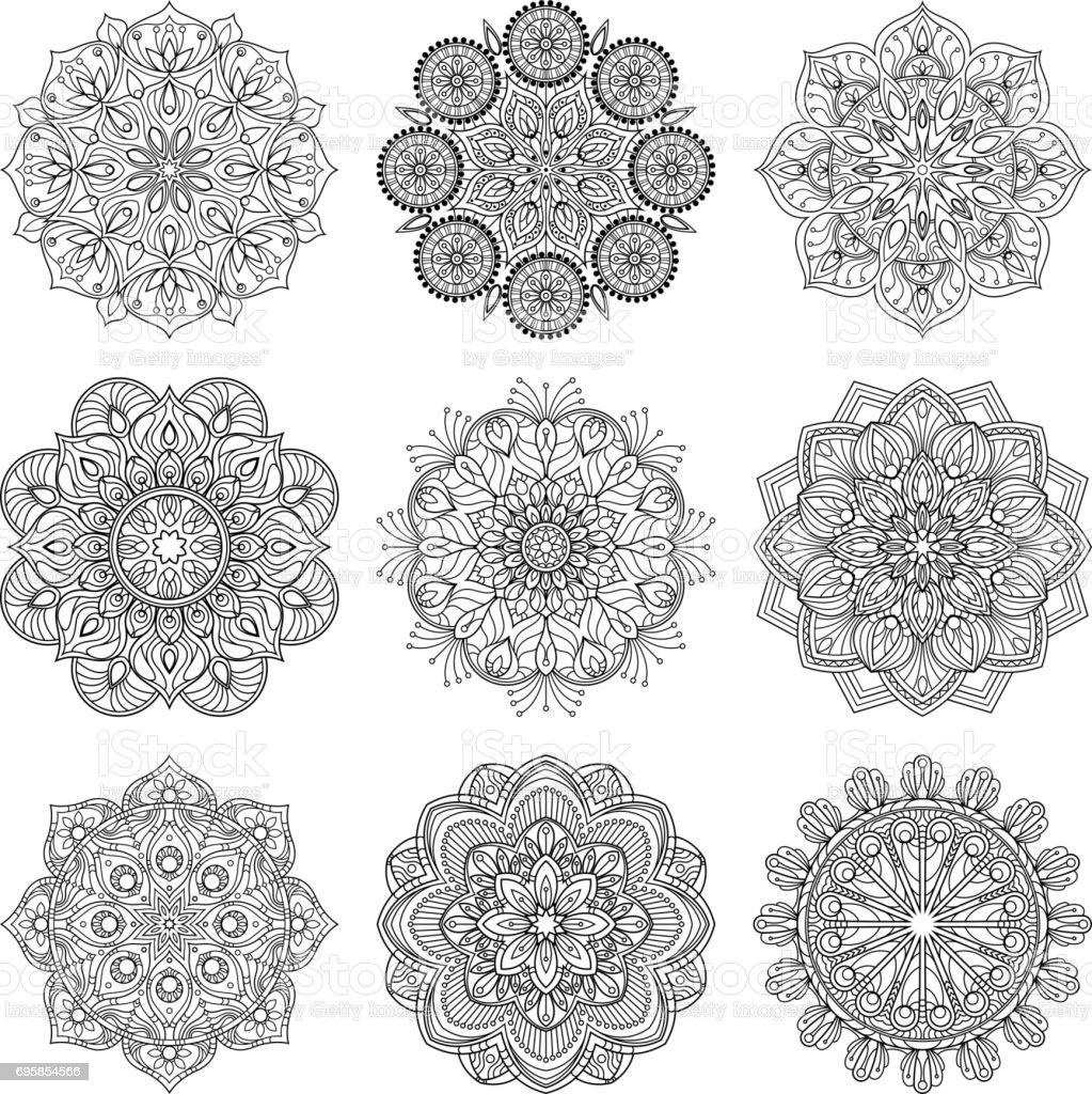 Ilustracion De Ilustracion De Vector De Mandalas Indios Antiguo - Mandalas-indios