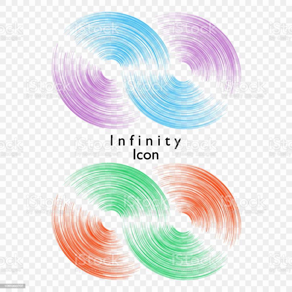 Illustration Vectorielle De Linfini Sur Fond Transparent Modele Pour Le Logo Symbole