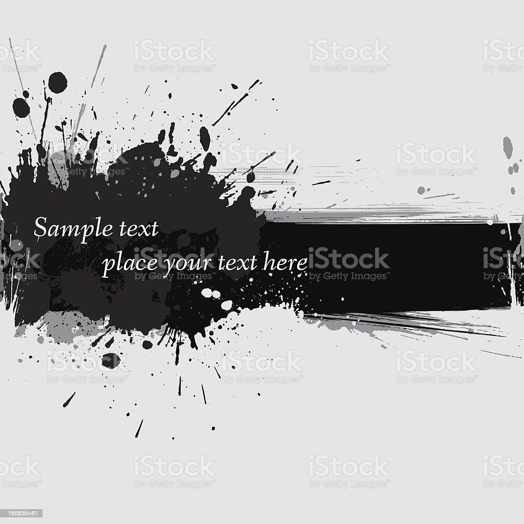 Vector illustration of ink grunge banner vector art illustration