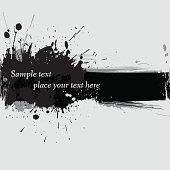 Vector illustration of ink grunge banner