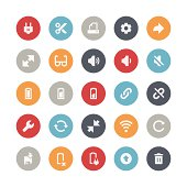 Vector illustration of interface and toolbar icons