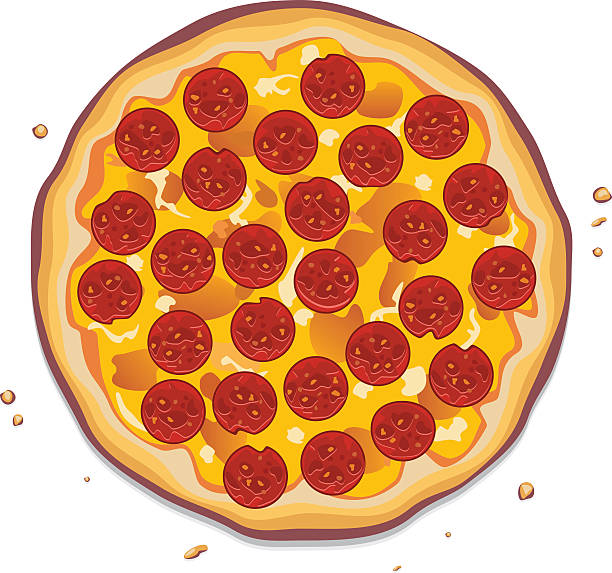 Best Pepperoni Pizza Illustrations Royalty Free Vector