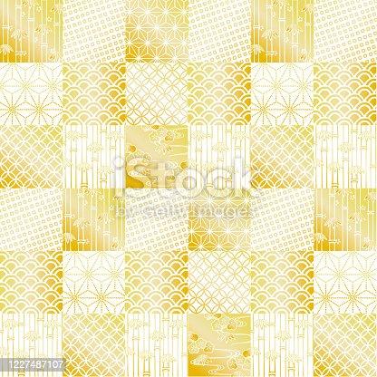 Vector illustration of Japanese pattern background