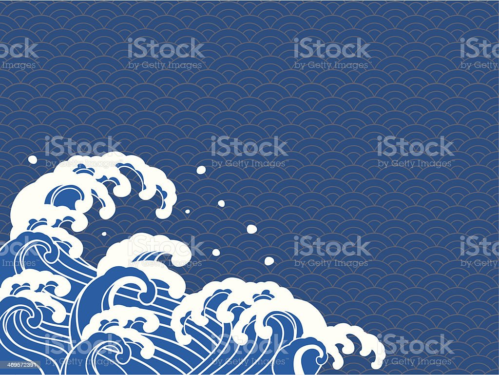 Vector illustration of Japanese prints vector art illustration