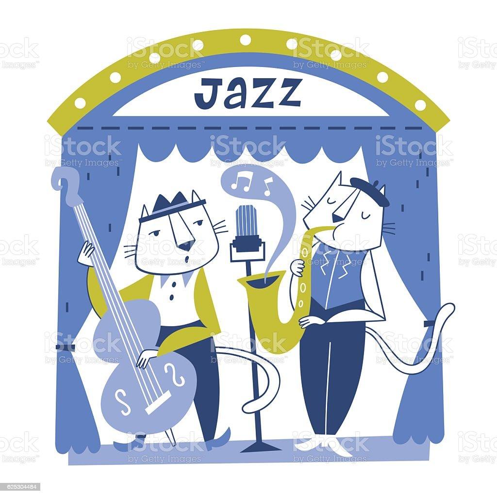 Vector illustration of jazz musicians vector art illustration