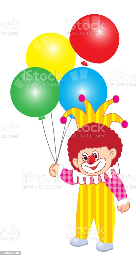 Vectorillustratie van Joker clown - Royalty-free Bontgekleurd vectorkunst