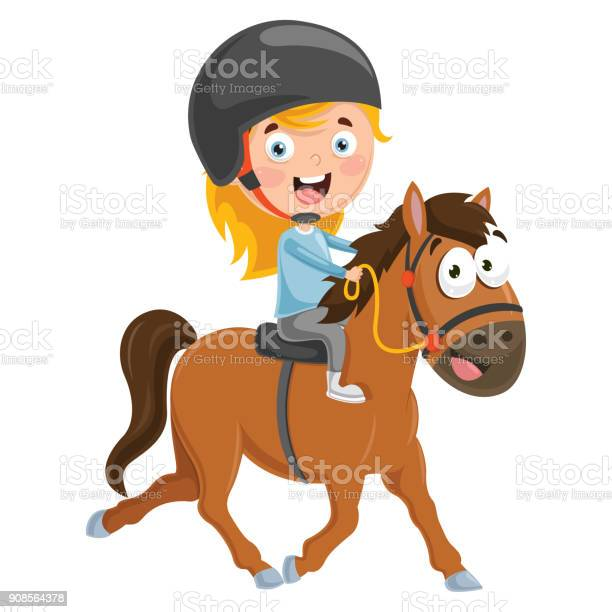 Vector illustration of kid riding horse vector id908564378?b=1&k=6&m=908564378&s=612x612&h=gqe2aalcv9e8hisz9yqffwuwsuokspwzc5vg6e 4ow4=