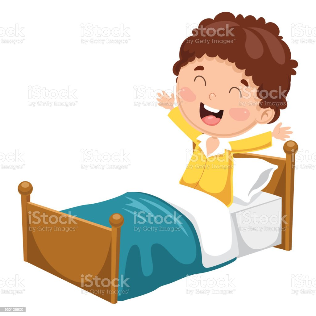 royalty free clip art of a a girl waking up clip art vector images rh istockphoto com waking up clipart waking up clipart black and white