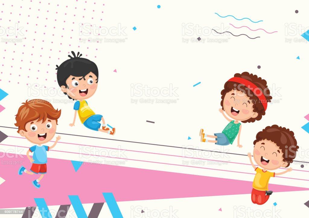 Vektorillustration Von Abstrakten Hintergrund Kinder Stock Vektor ...