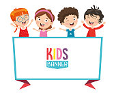 Vector Illustration Of Kids Banner