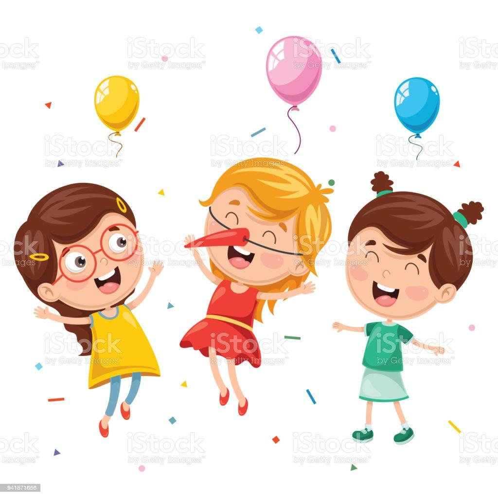 子供の誕生日パーティーのベクトル イラスト お祝いのベクターアート
