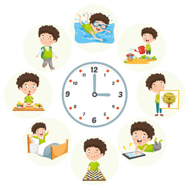 support your children by making a daily routine