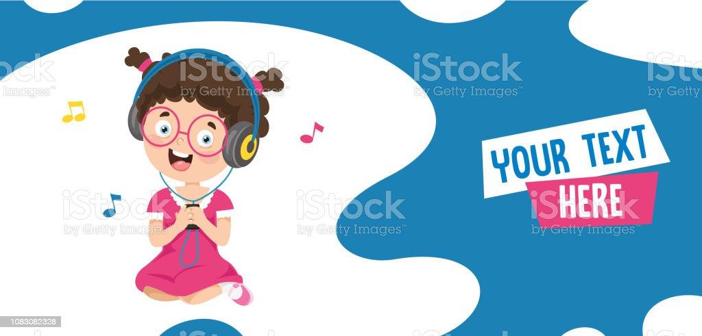 Vector Illustration Of Kids Music vector art illustration