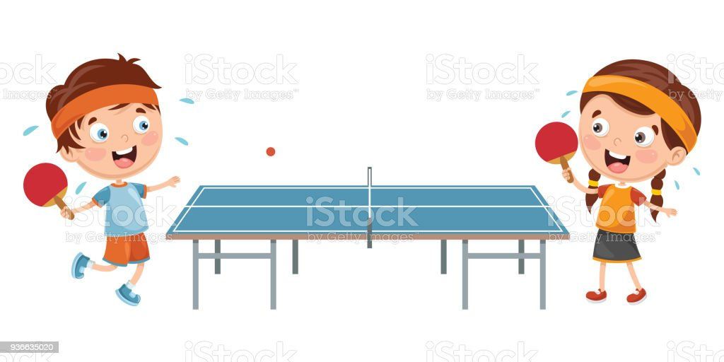 royalty free ping pong player clip art vector images rh istockphoto com ping pong paddle clipart ping pong clipart black and white
