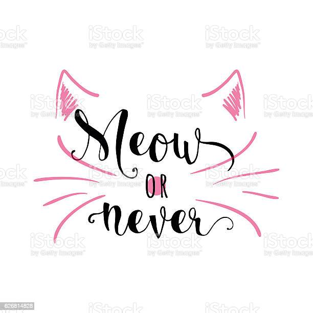 Vector illustration of kitten calligraphy sign for print vector id626814828?b=1&k=6&m=626814828&s=612x612&h=qjkbfuh8hy5hwjqthyie6kjivvaqdcbotzh8v2wwy i=