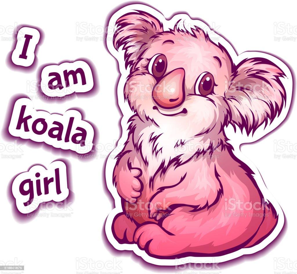 Vector illustration of koala in cartoon style vector art illustration