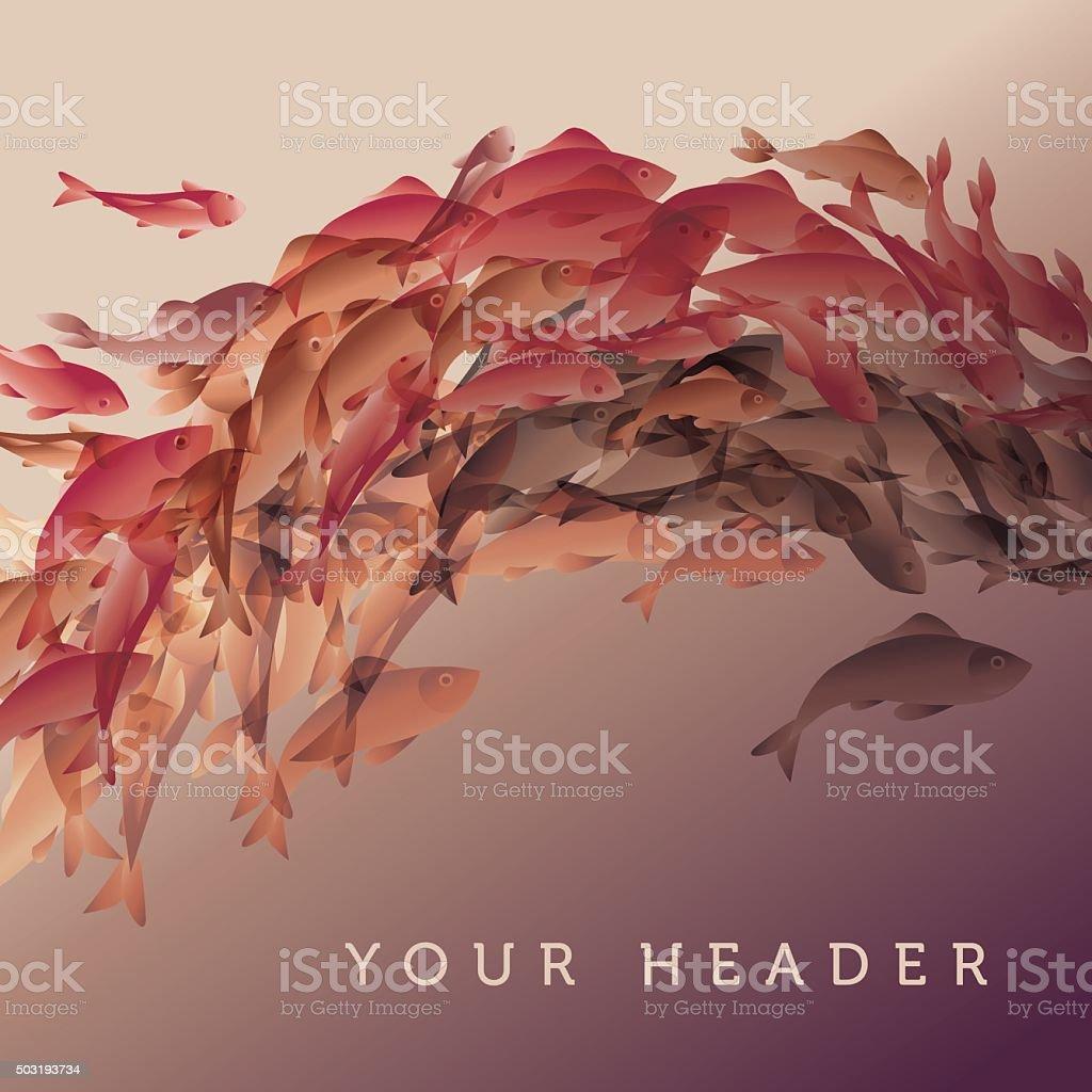 illustration vectorielle de carpes Koï - Illustration vectorielle
